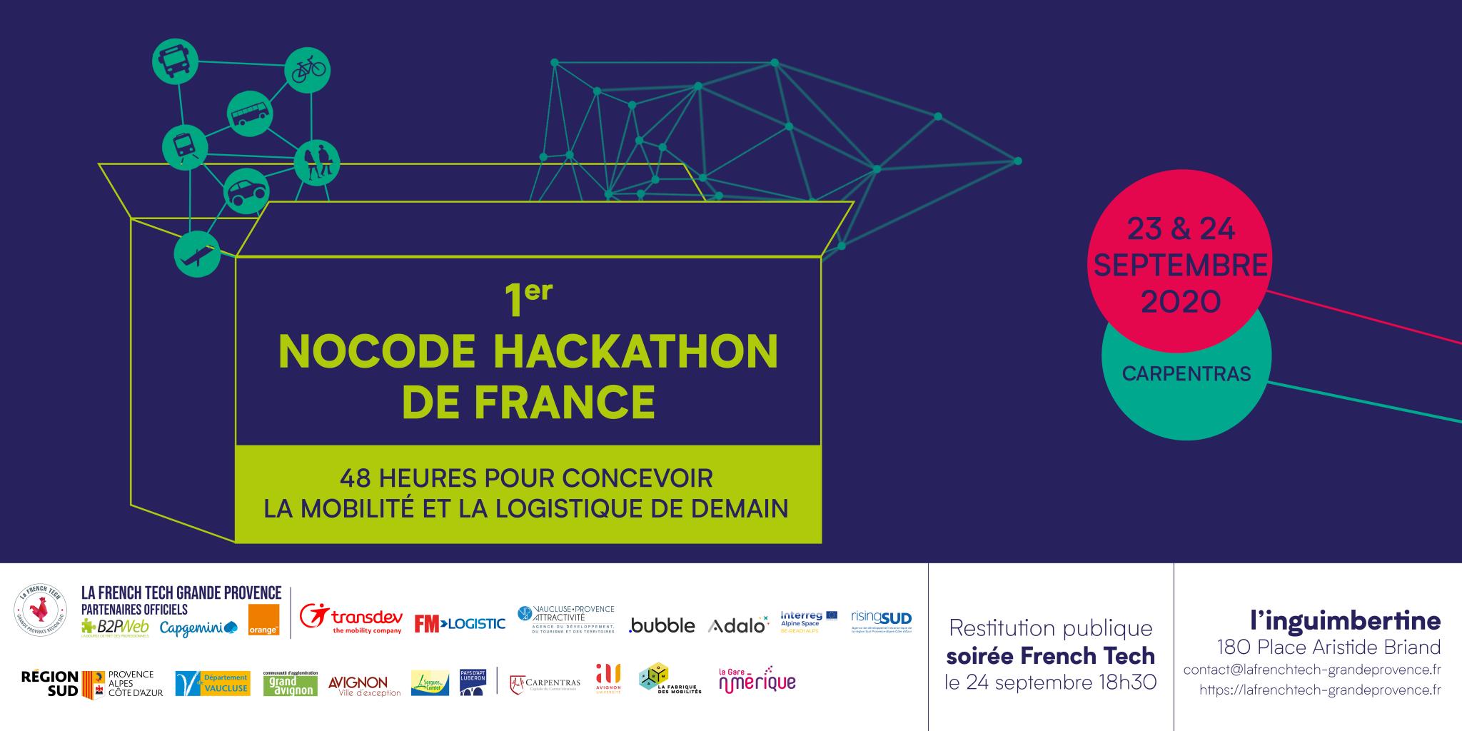 nocode hackathon La French Tech Grande Provence