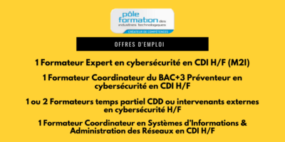 offres emploi pole formation