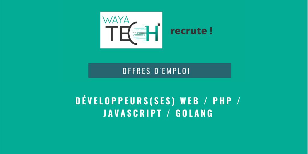 Offre d'emploi Waya tech